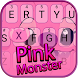 Pink Wizard Monster Theme&Emoji Keyboard by Fun Emoji Theme Creator