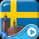 Swedish Flag 3D Live Wallpaper by Clock Live Wallpaper