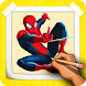How to Draw Amazing SpiderMan Characters by CCGAMES : Games For Kids