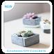 Charming DIY Concrete Planters by Orb Studio