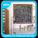 Creative DIY Chalkboard Wall Calendar by Uderground Studio