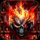 Horror skull Keyboard Theme Fire Skull
