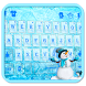 Icy Blue Keyboard Theme by Fancy Theme for Android keyboard