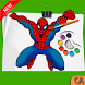 Spider-Man Coloring pages : Spider Games by COLOR ART STUDIO 2018