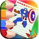 Comics Heroes Coloring book by Box Coloring Games