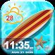 Summer Clock Weather Widget by Cute Princess Apps