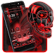 Tech Red Blood Skull Theme by Launcher Fantasy
