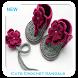 Cute Crochet Sandals from Rubber Flip Flops by Orb Studio