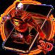 3D Neon Super Hero Cyborg Theme