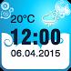 Weather Clock Widget by The World of Digital Clocks