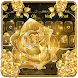Luxury Gold Rose Deluxe keyboard theme