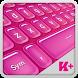 Keyboard Plus Hot Pink by Free Keyboard Themes HD