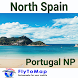 North Spain-Portugal GPS Map by FLYTOMAP