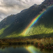 Rainbow On Lake Live Wallpaper by solar trap studio