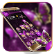 Purple Luxury Golden Butterfly Theme by Launcher Fantasy