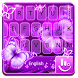Neon Purple Butterfly Keyboard Theme by Fashion Cute Emoji