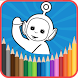 teletubby coloring world for kids