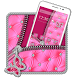 salmon alluring pink zipper strap Theme by Stylish Android Themes