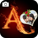 Fire Text Photo Frame Editor by Best Photo Video Apps