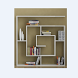 unique bookcase design by outfit8