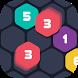 Hexagon Number Smash : 1010 Merged Block Puzzle