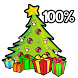 Christmas tree Battery Widget by Szubi