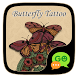 GO SMS BUTTERFLY TATTOO THEME by ZT.art