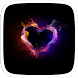 Fire Heart Live Theme by Heartful Theme