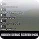 Mod Hidden Debug Screen For PE by Cool Mods
