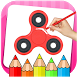 Fidget Spinner Coloring Book & Drawing Game by UVTechnoLab