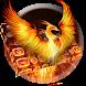 Flame Phoenix Keyboard Theme