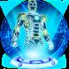 3D Neon Robot Theme