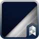 Silver Blue Launcher theme by SK techx for themes