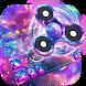 Fidget Spinner Galaxy Emoji Keyboard Theme by Keyboard themes