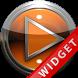 Poweramp Widget Orange Metal by Maystarwerk Skins & Widgets Vol.1