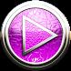 Poweramp skin pink lizard by Maystarwerk Skins & Widgets Vol.2