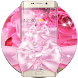 Pink Rose Shining Flower Theme by Cool Wallpaper