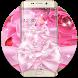 Pink Rose Shining Flower Theme