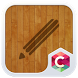 Wood Line C Launcher Theme by Best Themes Workshop
