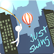 Rope Swing Stickman by Landmakk