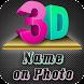 3D Name art Maker - 3D Stylish Text on Photo by XEN Studios