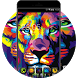 Neon Color Lion: Neat Theme for Galaxy S8 HD by Mobo Theme Apps Team