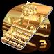 Gold rose Kiss beautiful Emoji keyboard by Bestheme Keyboard Designer