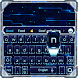 neon blue hi tech keyboard future machine by Keyboard Theme Factory
