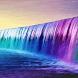 Purple Waterfalll LWP