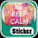 Keep Calm Messenger Sticker by Candy Jausner Apps