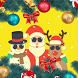 Christmas Photo Frames Sticker by Guava Studio