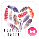 Stylish Wallpaper Feather Heart Theme by +HOME by Ateam
