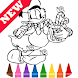 Learn Draw Coloring for Duck Donald by Fans