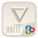 White GO Launcher Theme by ZT.art